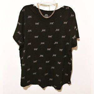 Jaguar Print Tee Shirt XXL
